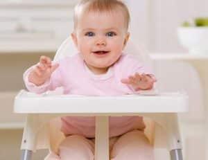 chaise haut de bébé très confortable