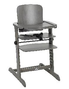 chaise évolutive bébé de couleur grise