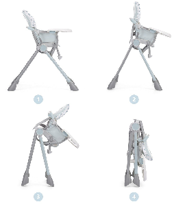 chaise haute chicco blanche