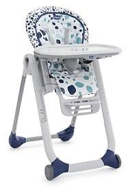chaise polly progres avec des motifs bleu