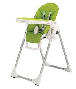 chaise haute de bébé verte