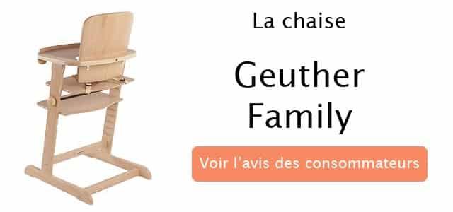 avis sur la chaise geuther family