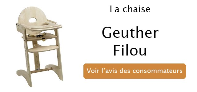 chaise haute filou de geuther top 1 de la chaise b b en bois. Black Bedroom Furniture Sets. Home Design Ideas