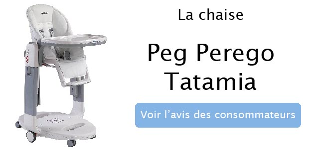avis sur la chaise peg perego tatamia
