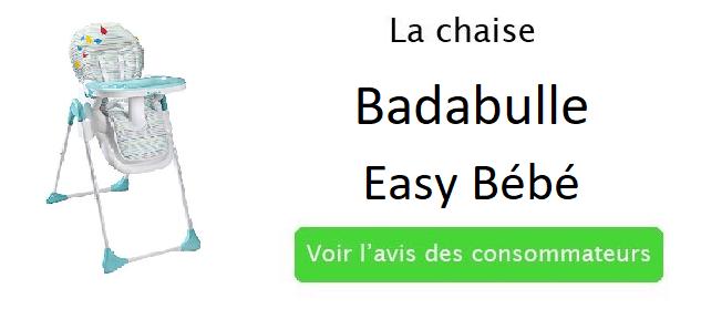 chaise de bébé badabulle